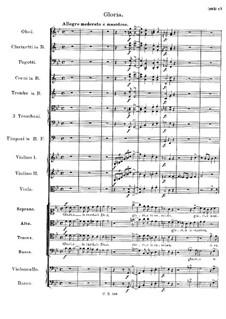 Mass No.6 in E Flat Major, D.950: Gloria by Franz Schubert