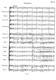 Mass No.6 in E Flat Major, D.950: Benedictus by Franz Schubert