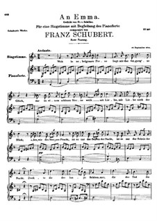 An Emma, D.113 Op.58 No.2: First edition by Franz Schubert