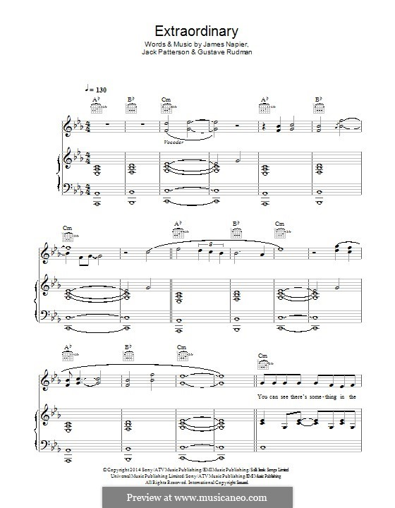 Extraordinary: For voice and piano (or guitar) by James Napier, Jack Patterson, Gustave Rudman