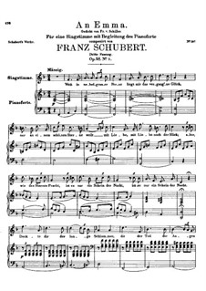 An Emma, D.113 Op.58 No.2: Third edition by Franz Schubert