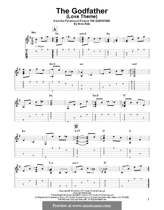 The Godfather Love Theme By N Rota Sheet Music On Musicaneo