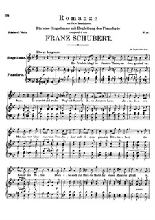 Romance for Voice and Piano, D.114: B flat Major by Franz Schubert