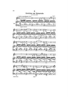 Gretchen am Spinnrade (Gretchen at the Spinning Wheel), D.118 Op.2: Piano-vocal score by Franz Schubert