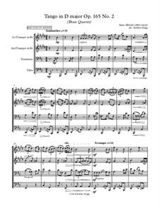 No.2 Tango: For brass quartet by Isaac Albéniz