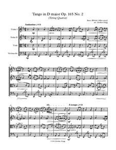 No.2 Tango: For string quartet by Isaac Albéniz