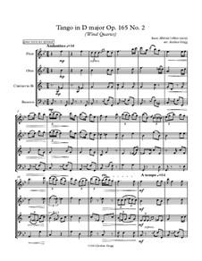 No.2 Tango: For wind quartet by Isaac Albéniz