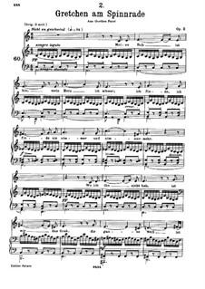 Gretchen am Spinnrade (Gretchen at the Spinning Wheel), D.118 Op.2: A Minor by Franz Schubert