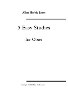 5 Easy Studies: For oboe by Allan 'Herbie' Jones