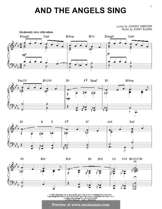 And the Angels Sing: For piano by Ziggy Elman