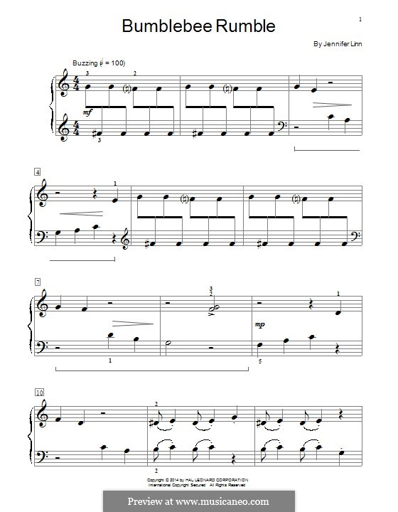 Bumblebee Rumble: For piano by Jennifer Linn