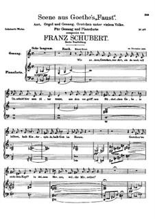 Scene from 'Faust', D.126: Second version by Franz Schubert