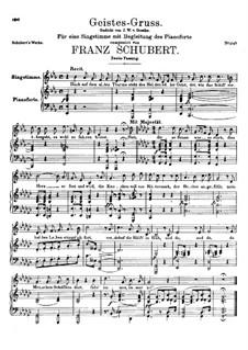 Geistes-Gruss (A Spirit's Greeting), D.142 Op.92 No.3: Second version by Franz Schubert
