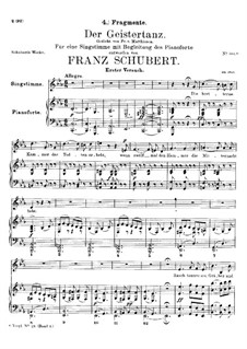 Der Geistertanz (Ghost Dance), D.15: Fragment I by Franz Schubert