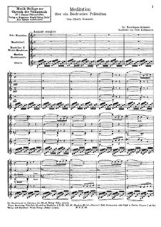 Meditation on Prelude No.1 by Bach: For chamber orchestra by Charles Gounod