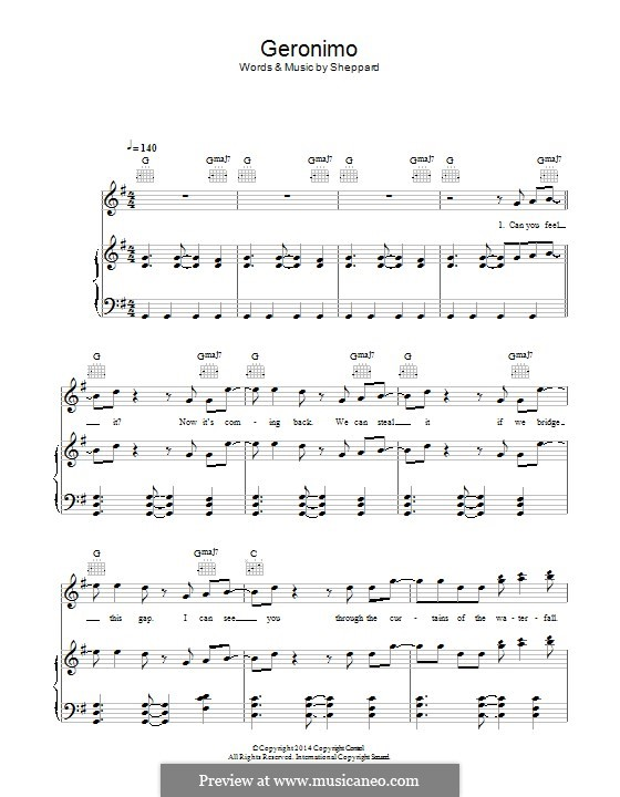 Geronimo: For voice and piano (or guitar) by Sheppard