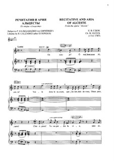 Alceste, Wq.44: Recitative and aria of Alceste by Christoph Willibald Gluck