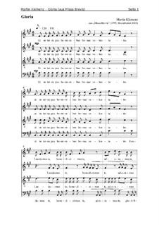 Missa Brevis (1995): Gloria by Martin Klemenz