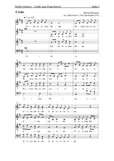 Missa Brevis (1995): Credo by Martin Klemenz