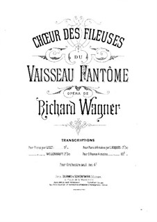 Spinning Choir: For piano four hands by Richard Wagner