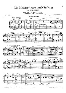 Walter's Prize Song: For harmonium and piano – harmonium part by Richard Wagner