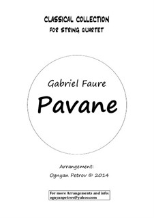 Pavane, Op.50: For string quartet (short version) by Gabriel Fauré
