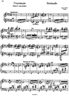 Morceaux de fantaisie, Op.3: No.5 Sérénade (first version) by Sergei Rachmaninoff