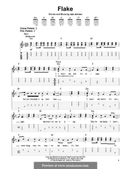 Flake By J Johnson Sheet Music On Musicaneo