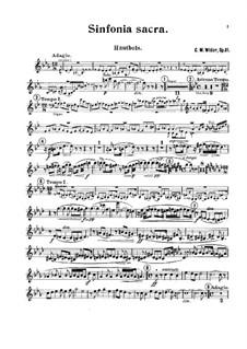 Sinfonia sacra, Op.81: Oboe part by Charles-Marie Widor