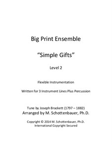 Simple Gifts: For flexible instrumentation by Joseph Brackett