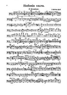 Sinfonia sacra, Op.81: Trombone III part by Charles-Marie Widor