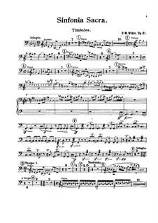 Sinfonia sacra, Op.81: Timpani part by Charles-Marie Widor