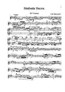 Sinfonia sacra, Op.81: Violins I part by Charles-Marie Widor