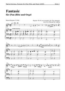 Fantasie für (Pan-)flöte und Orgel (2009): Fantasie für (Pan-)flöte und Orgel (2009) by Martin Klemenz