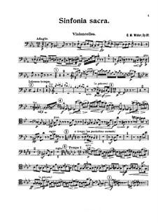 Sinfonia sacra, Op.81: Cellos part by Charles-Marie Widor