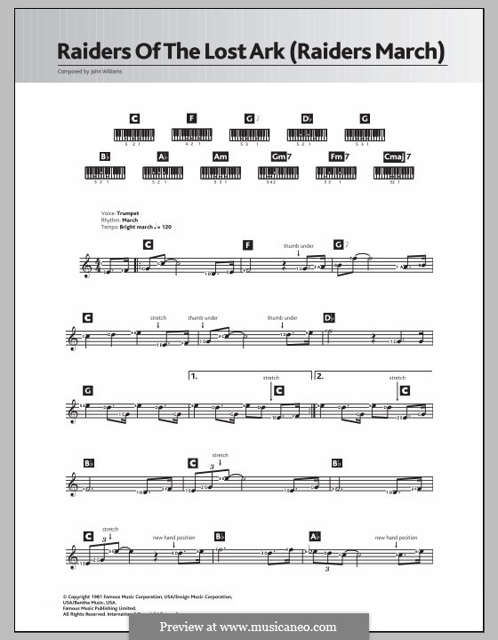Raiders March (from Raiders of the Lost Ark): For keyboard by John Williams