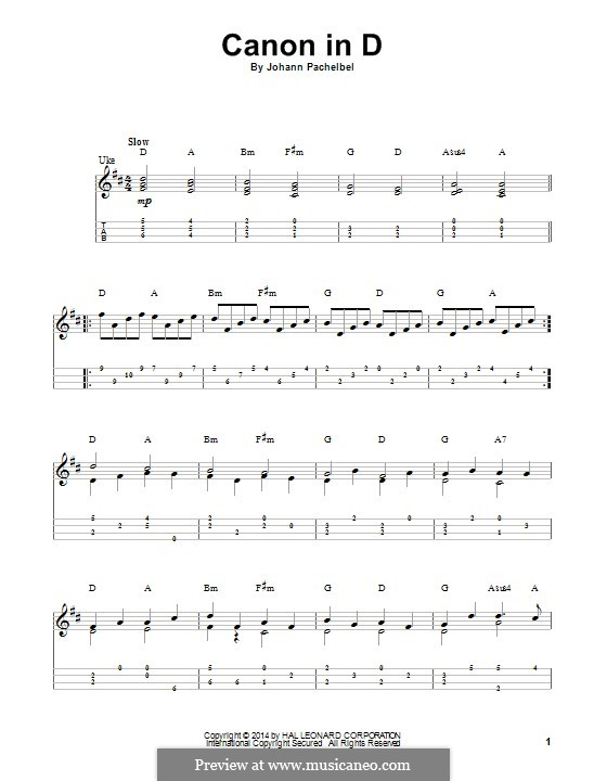 Canon In D Major Printable By J Pachelbel Sheet Music On Musicaneo