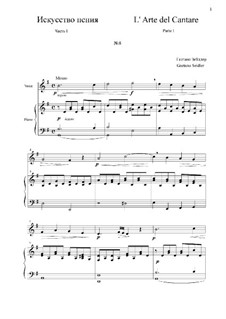L' Arte del Cantare. Parte I: Vocalise No.8 by Gaetano Seidler