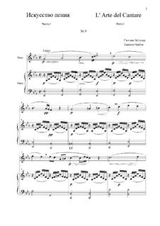 L' Arte del Cantare. Parte I: Vocalise No.9 by Gaetano Seidler