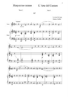 L' Arte del Cantare. Parte I: Vocalise No.7 by Gaetano Seidler