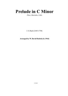 Prelude and Fugue No.2 in C Minor, BWV 847: Fugue, for flute, marimba and cello by Johann Sebastian Bach