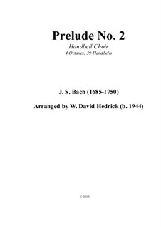 Six Little Preludes, BWV 933-938: No.2, for handbells by Johann Sebastian Bach