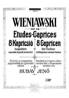 Eight Etudes for Two Violins, Op.18: Etudes No.1-4 by Henryk Wieniawski