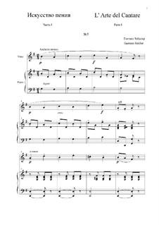 L' Arte del Cantare. Parte I: Vocalise No.5 by Gaetano Seidler