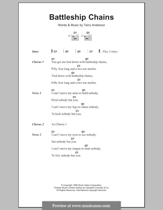 Battleship Chains By T Anderson Sheet Music On Musicaneo