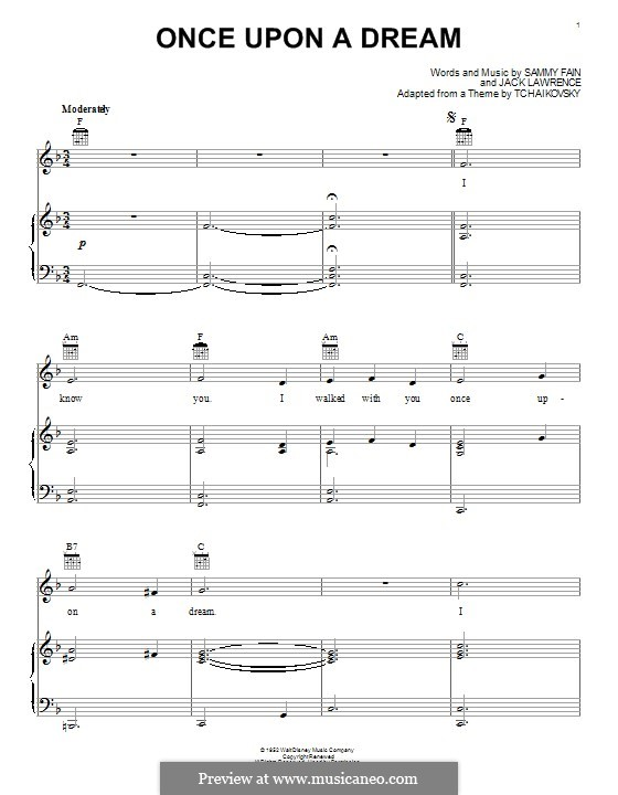 Once upon a Dream: For piano by Jack Lawrence, Sammy Fain