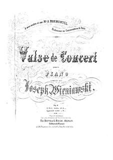 Concert Waltz, Op.3: For piano four hands by Józef Wieniawski