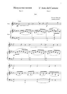 L' Arte del Cantare. Parte I: Vocalise No.4 by Gaetano Seidler