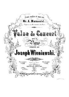Concert Waltz, Op.3: For piano by Józef Wieniawski