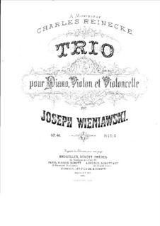 Piano Trio in G Major, Op.40: Full score by Józef Wieniawski